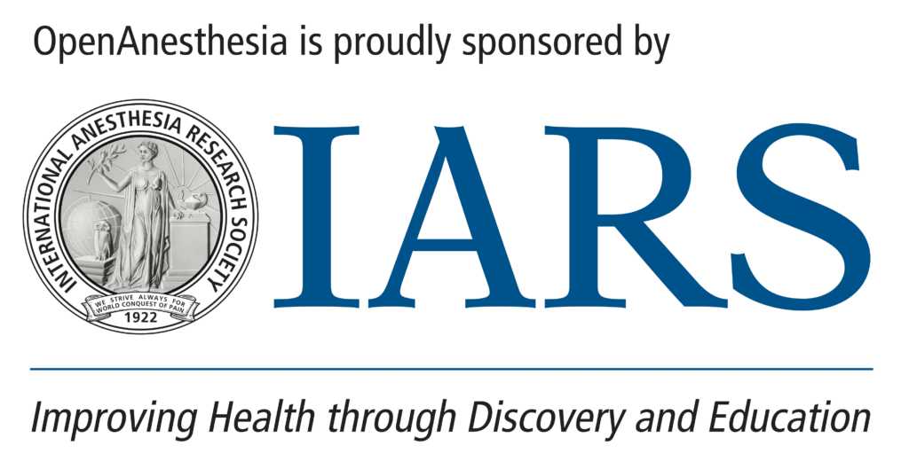 IARS - International Anesthesia Research Society logo